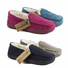 Ladies SIZE 3 - 8 Moccasin Slippers NEW Womens Fur Response Lightweight Pippa