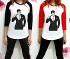 Channing Tatum w Suit Step Up Dancer Shirt Raglan Women 3/4 Long Sleeve TShirt