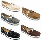 Women's Boat Shoes Oxfords Loafers Leather Fashion Deck Casual Moc Sneaker Sizes