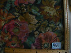 Green Beige Burgundy Flower Tapestry Fabric / Upholstery Fabric  1 Yard  R461
