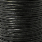 Waxed Cotton Cord Shamballa Macrame Jewellery - Black - 0.6mm 1mm 2mm