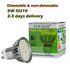 Led Bulbs 5W GU10 Dimmable Non-dimmable 24SMD Day Natural Warm White Spotlight