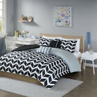 black and white striped comforter twin - BEAUTIFUL MODERN CONTEMPORARY CHIC BLACK WHITE STRIPE COMFORTER SET
