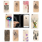 Ultra Thin Fashion Pattern Clear Soft Phone Back Case Cover For Iphone 5/5S/6 UK