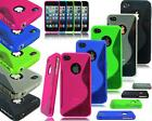 APPLE I PHONE 4S 5S 6 6S 6 PLUS MODELS GEL SILICONE CASE COVER + SCREEN GUARD