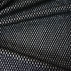Silver Glitter Jersey Fabric with Black Bonded Lace (Per Metre)