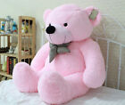 Stuffed Giant 80CM Big Pink Plush Teddy Bear Huge Soft 100% Cotton Doll Gift New