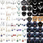 U Wedding Women Fashion Rhinestone Necklace Crystal Earrings Charm Jewelry Set