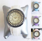 HENLEY Ladies SPORTS WATCH Crystal Silicone Wrist BNIB White Pink Blue Purple