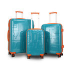 "JLY 4 Wheel Hard Shell Luggage Travel Trolley Suitcase 19""/24""/28"" Sizes 2127"