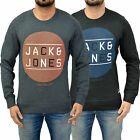 Mens Jack & Jones Sweatshirt Designer Jumper Crew Neck Fleece Sweater Pullover