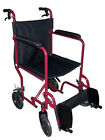 Aluminum Lightweight Travel and Transport Folding Wheelchair Fits Into Car Trunk