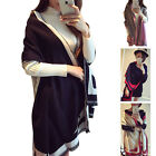 AM001 Womens Fashion New Autumn Winter Warm Large Scarves Wool Scarf Wrap Shawl