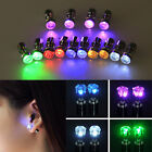 HOT!! Women LED Light Up Bright Earring Ear Stud Luminous DJ Dance Party Bar 2PC