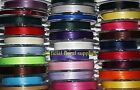 3mm x 50m double faced satin ribbon MASSIVE COLOUR CHOICE