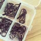 30pcs 6 Size Mixed Rod Guides Tip Top Guides Stainless Steel Ceramic in Box