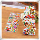 10 Sheet Christmas Cartoon Bubble Sticker Home Decoration Craft Kids Xmas Gift