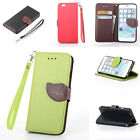 New Color Rope Luxury Stand Flip Wallet Leather Card Skins Case Cover For iPhone