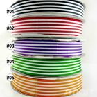 "1""(25MM) Mixed Lines Strips Spring Grosgrain Ribbon 1 Yard/5 Yards/10 Yards"