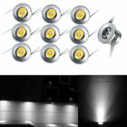 10x 1W LED Recessed Small Cabinet Mini Spot Lamp Ceiling Light White/Warm White