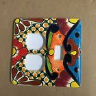 Talavera Single Toggle Double Outlet Mexican Amigos Pottery plate light switch