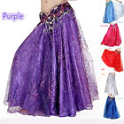 Women Elegant Charming Belly Dancing Costume Satin Embroidery Skirt
