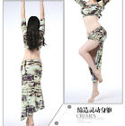 New 2015 Women Belly Dance Costumes 2Pics Top Blouse&Dress Skirt Dancewear