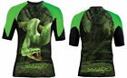 Woldorf USA Half Sleeve MMA Board Rash Guard Polyester with Green Snake L