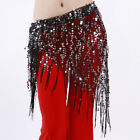 NEW belly dance hip scarf  Wrap Belt Shinning sequins triangle shawl Fringes