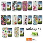 For Samsung Galaxy S4 i9500 Printed Flower Silicone Soft Skin Case Gel Cover