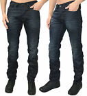 Mens Designer Foray Jeans Marble Regular Fit Dark Blue Denim Pants Trousers