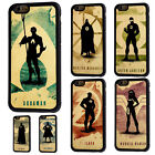 iPhone 5/5s 5c 6/6s 7 8 X Plus Superhero Silhouette Rubber Phone Case Cover