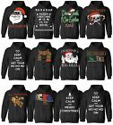 MENS WOMENS UGLY CHRISTMAS HOODIE SWEATER XMAS GIFTS SANTA DEER BLACK