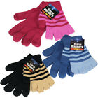 2 THERMAL MAGIC GLOVES SET FINGERLESS WINTER WARM INSULATED LUXURY GIRLS UNISEX