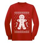 Gingerbread Man Ugly Christmas Cookie Sweater Funny Long sleeve kids T-Shirt