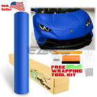 *Premium MATTE FLAT BLUE Vinyl Car Wrap Sticker Decal Sheet Film Bubble Free