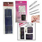 17/ 24 pcs Self Threading Hand Needles Simple Sewing Thread Assorted Needle Size