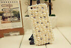 For Mobile Phone Bling Mixed Pearls Diamonds Rhinetones Fashion Hard Cover Case