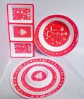 New Christmas Party Santa MELAMINE Tableware Platter Bowls Serving Plates Trays