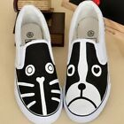 Cat&Dog Hand-painted Canvas Shoes for Women Men Boys Girls's Slip-On Sneaker