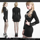 PUNK rock futurisitic hickey missile sexy cleavage keyhole bodycon dress Q278