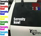 Serenity Now! Decal Vinyl Car Window Seinfeld Costanza Laptop Sticker ANY SIZE