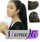 Long Ponytail HairPiece Extension Jaw/Claw Clip in/on Hair piece 100% human hair