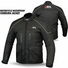 Mens Motorcycle Cordura Textile Waterproof Jacket Motorbike Armor BLACK