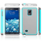 For Samsung Galaxy Note Edge Slim Hybrid Defender Soft Rubber Bumper Case Cover