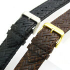 Leather Watch Strap by Apollo 20mm Basketweave Black or Brown Free Pins!