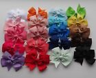 HAIR BOW CLIP- Party, wedding...20 colours to choose (8cm)- combined post (ctp2)
