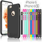 """Hybrid Rubber Shockproof Hard Case Cover Skin for iPhone 7 6 6S 4.7"""" / 5.5"""" Plus"""