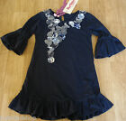 Beetlejuice girl longsleeve dress  5-6 y BNWT designer navy party