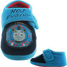 Boys Size 5 - 10 Navy Blue THOMAS THE TANK ENGINE Velcro Slippers NEW